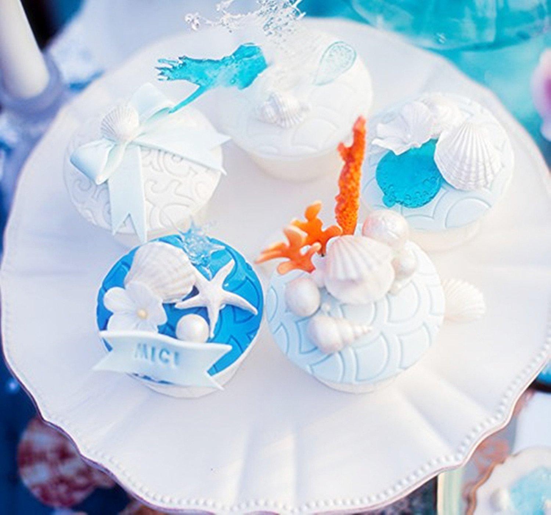 Conch 2.9 Efivs Arts Seashell Silicone Mold Shell Fondant Mold Cupcake Cake Decoration Tool Set Clarion 3.7 Shells 3.27 Sea Urchins 2.6