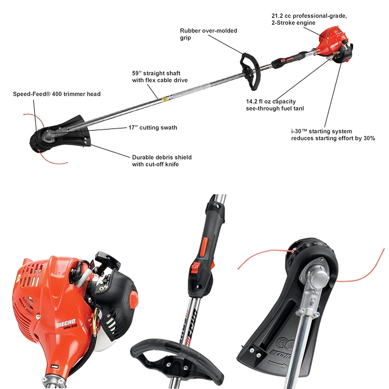 Amazon.com: SRM-225 desbrozadora eléctrica 21.2 cc ...
