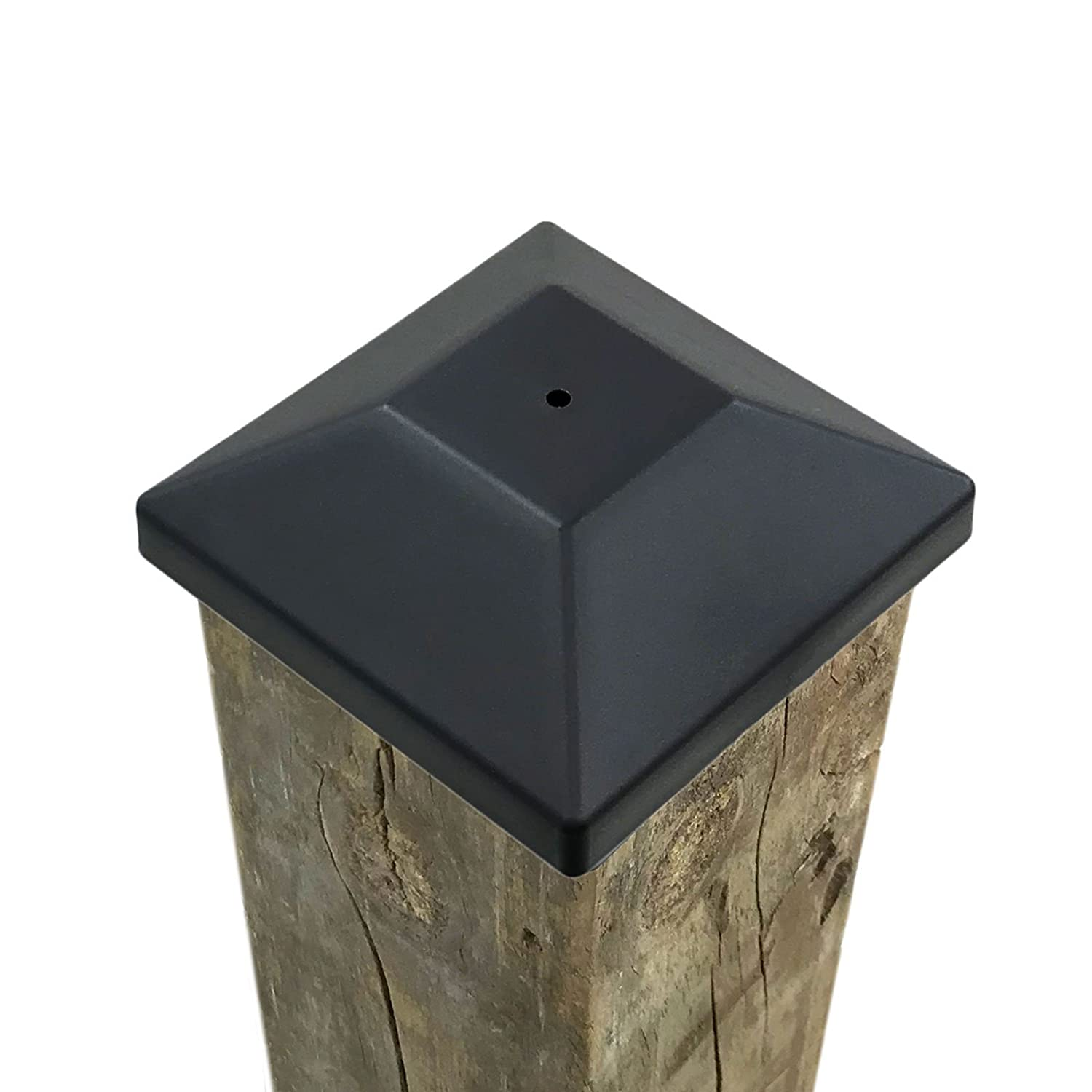 (32 Pack) New Wood Fence Post Black Caps 4X4 (3 5/8