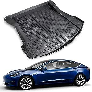 Amazon.com: VANKU Tesla Model 3 Rear Trunk Mats Custom Fit ...