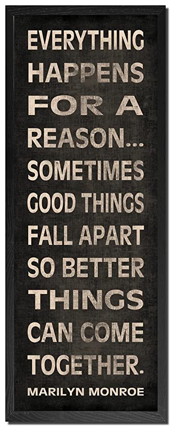 Everything Happens For A Reason Marilyn Monroe Inspirational Quote