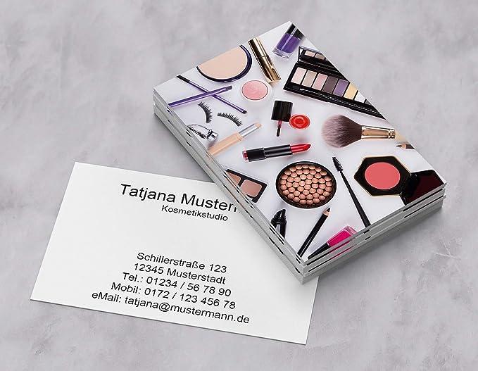 1000 Visitenkarten Für Kosmetik Make Up Beauty 350g