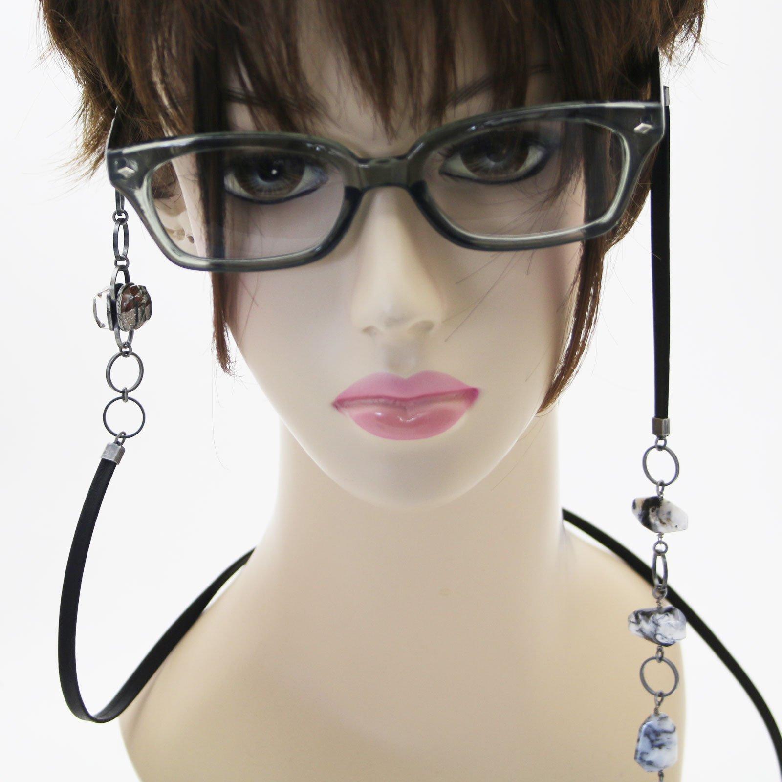 Tamarusan Eyewear Strap Eyewear Chain Natural Stone Leather Mens Women by TAMARUSAN (Image #5)