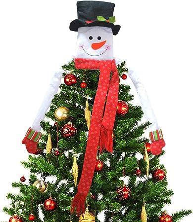 3 Pezzi Sacchetto Regalo di Babbo Natale Pupazzo Neve Orso Appeso Sacco Bambini Sacchetto di Immagazzinaggio per Casa//Festa//Albero di Natale Decorazione TRUBUY Sacchetti Caramelle di Natale
