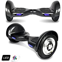 """Markboard Hoverboard 10"""", UL,CE Certified Two Wheel Self-balancing Scooter Skateboard With LED and Bluetooth (Carbon black)"""