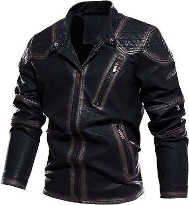 Men Slim Zipper Coat Long Sleeve  Biker Jacket Autumn Outwear Tops