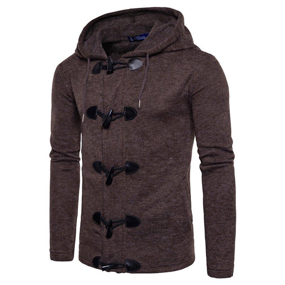 Top Cardigan Coat Jacket Uomo Autunno Inverno Moda Uomo Slim Designed Hooded,YanHoo Maglie a Manica Lunga da Uomo, Felpe da Escursionismo da Uomo,Abbigliamento da Pallamano S/M/L/XL/XXL Magliette Uomo-YanHoo