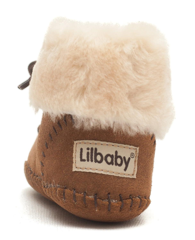 Amazon.com | Lilbaby Navajo Merino Sheepskin Baby Moccasin Bootie (100% PURE Australian Sheepskin, Calf Suede) | Shoes