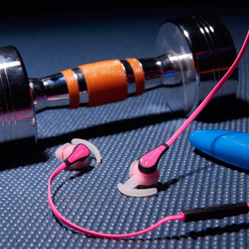 Phiaton C230S Pink In Ear Sport earphones, IPX4 water resistant ...