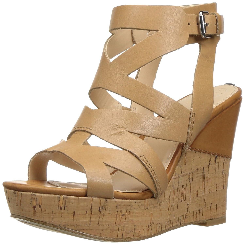 GUESS Women's Hannele Wedge Sandal B01LZB818R 9.5 B(M) US|Natural