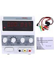 YaeCCC 1502D+ DC Power Supply with LED Display, 15V 2A Variable Regulated Adjustable Linear DC Lab Kit with Alligator Leads and US Power Cord