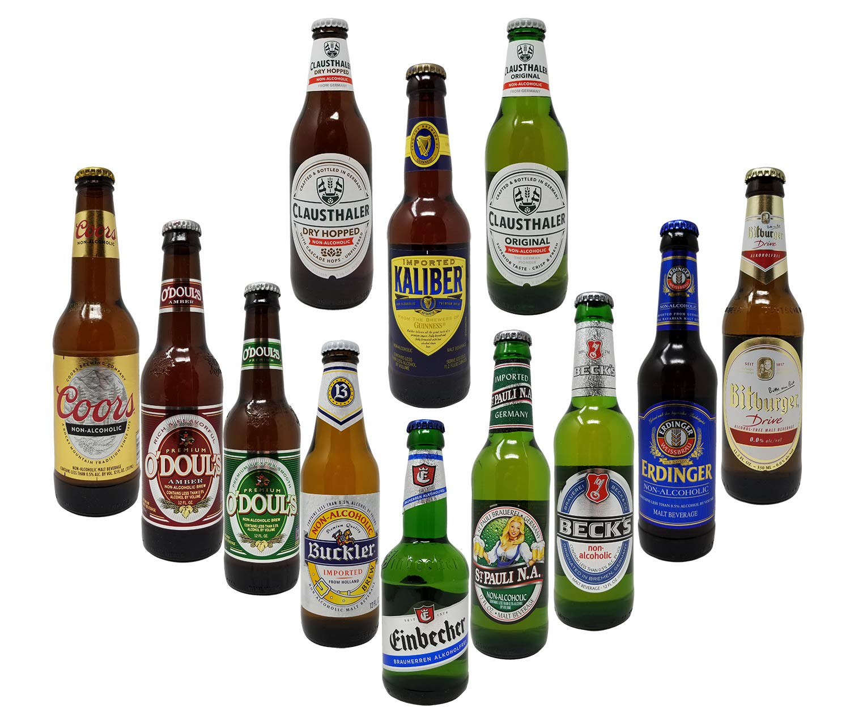 Non-Alcoholic Beer Variety Pack, Beck's, Bitburger, Buckler, Clausthaler Premium and Amber, Coors, St. Pauli Girl, Einbecker, Erdinger, Kaliber, O'Doul's Premium and Amber (Case Of 12)