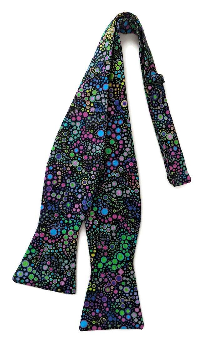 Boy's Mardi Gras Self-Tie Bow Tie Multi-Colored Dotted Celebration (Boys)