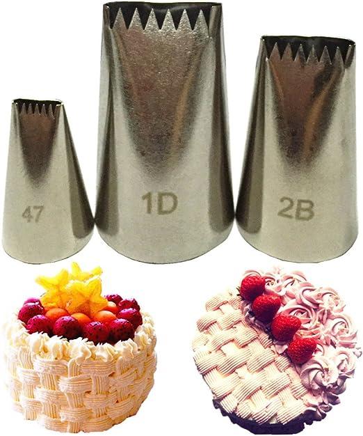 5 Boquillas De Reposteria Rusas Acero Inoxidable Boquilla De Rusa Para Pasteles