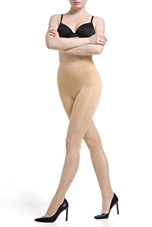 649bdf00bac Body Shaper Control Tights - High Waist Shapewear Girdle Pantyhose - Tummy Thigh  Slimming Butt Lifter Comfortable Premium Quality Semi-Sheer Hosiery - 40 ...