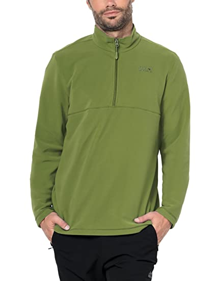 huge selection of 90750 ff63b Jack Wolfskin Men's Wolf 1/4 Zip Fleece, Fern, 3X-Large