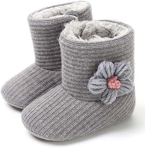 Warm Newborn Baby Kids Toddler Girls Boys Button Crib Shoes Prewalker Soft Sole