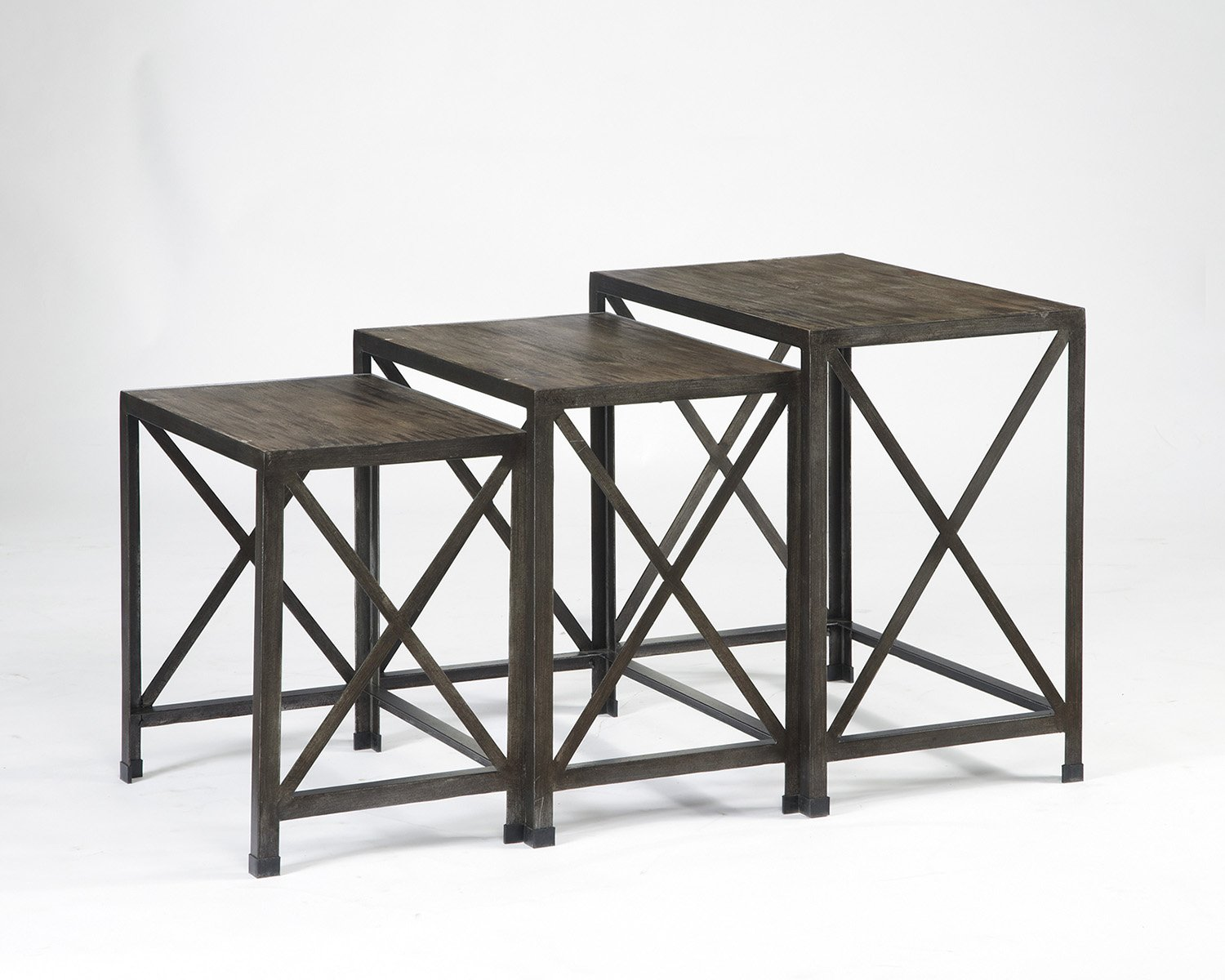 amazoncom ashley furniture signature design  vennilux nesting  - amazoncom ashley furniture signature design  vennilux nesting end tables  piece table set  gray brown finish kitchen  dining