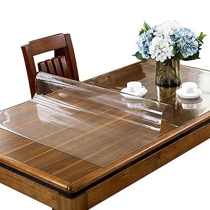 Amazoncom ETECHMART Customized Clear PVC Table Protector Mm For - Custom clear table protector