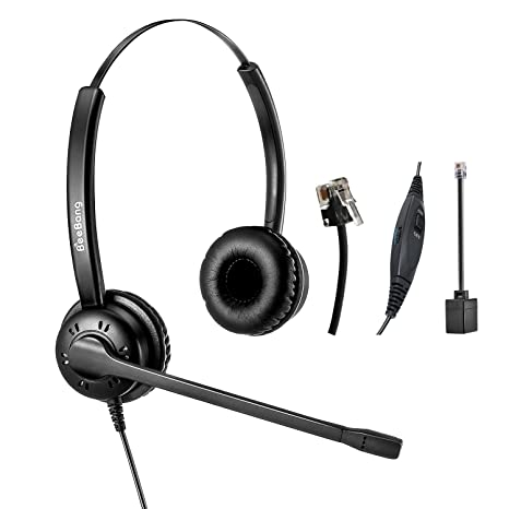 f0ff8d4ff95 Image Unavailable. Image not available for. Color: Telephone Headset Office  Landline ...