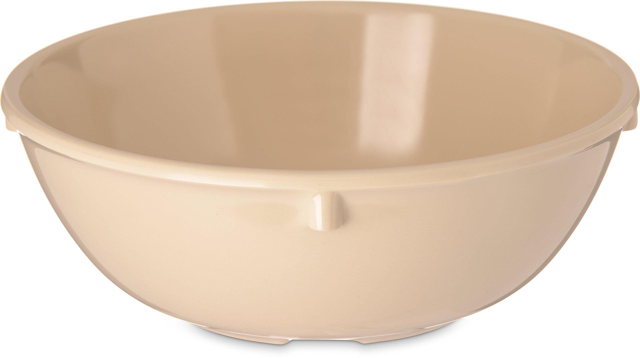 Carlisle 4352825 Dallas Ware Melamine Nappie Bowl, 10 oz., 1.81 x 4.96'', Tan (Case of 48)