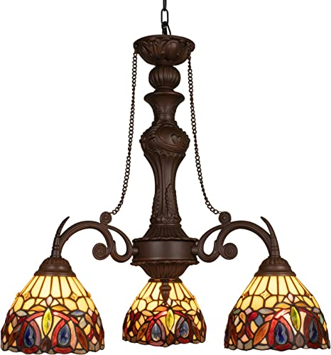 Maxxmore Tiffany Diningroom Chandelier Dining Room Light Tiffany Hanging Lamp