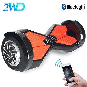 2WD Hoverboard 8 Scooter Eléctrico 2 Rueda Self Balancing Scooter con Bluetooth y LED Luz Scooter Eléctrico 8