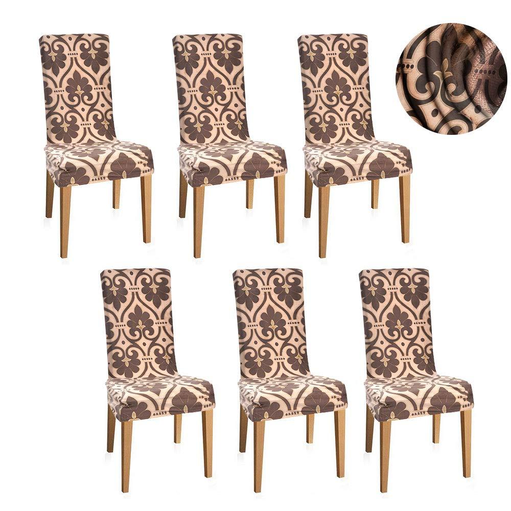 Fundas sillas de comedor el/á sticas y modernas pack de 6,Fundas de ...
