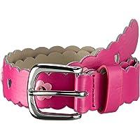 Playshoes Stylischer Kindergürtel mit Blumen in Pink Cinturón para Niñas