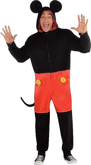 Party City Zipster Disfraz de Mickey Mouse de una Pieza para ...