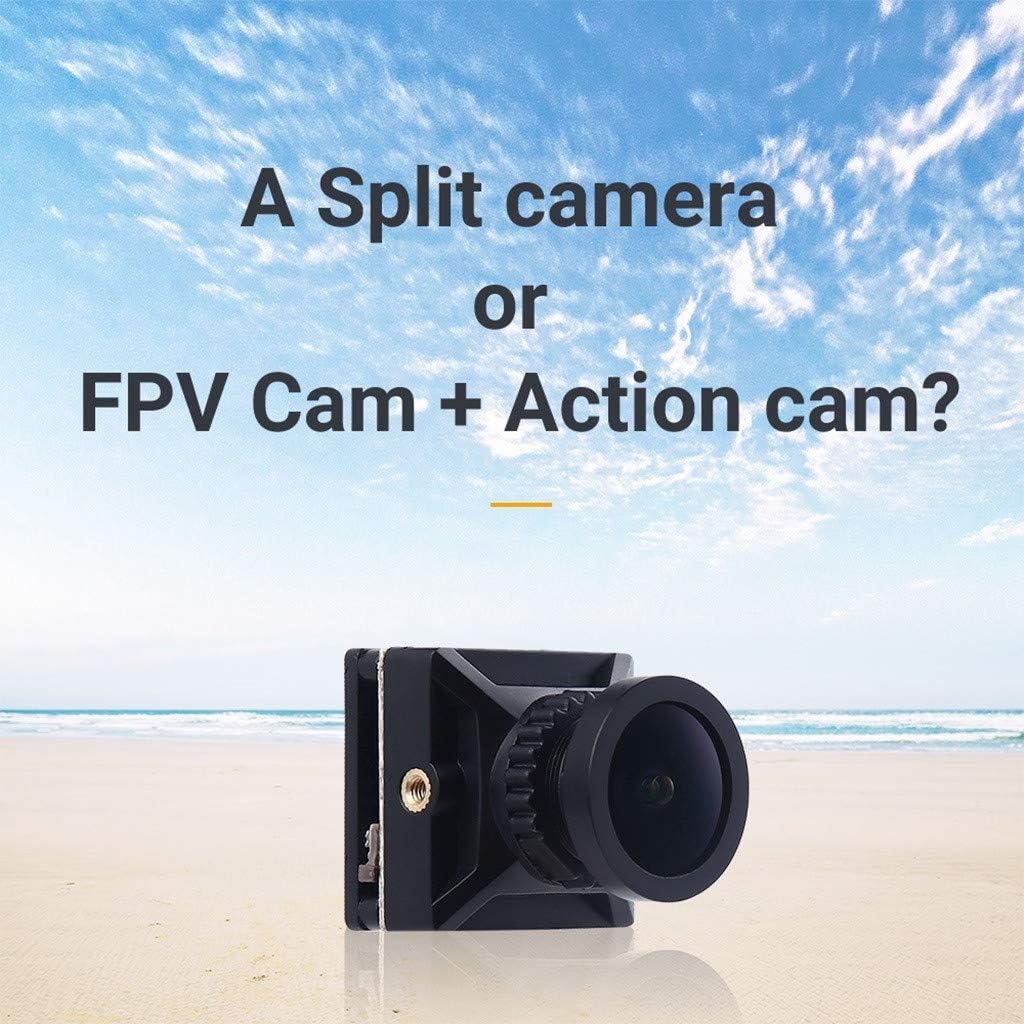 Kariwell - Cámara de acción FPV 4K - Grabación de DVR HD de 160 Grados Mini cámara FPV WDR con micrófono Integrado para dron RC: Amazon.es: Juguetes y juegos