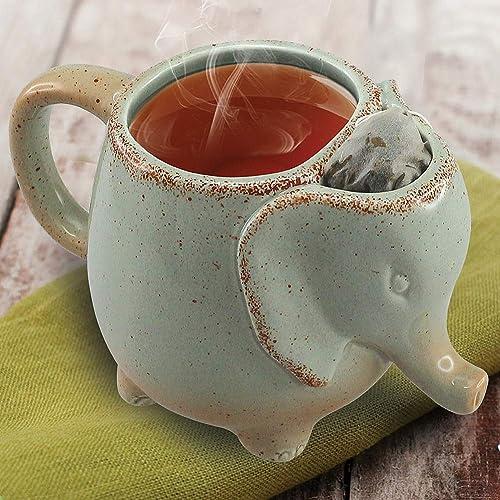 Happiness Apply Here 15oz Elephant Tea Mug Green
