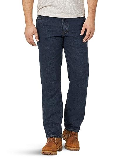 Rustler Wrangler Men/'s Big /& Tall Regular Fit Straight Leg Dark Blue Denim Jeans