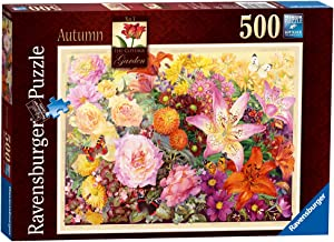 Ravensburger The Cottage Garden Autumn 500 Piece Jigsaw Puzzle for Adults – Every Piece is Unique, Softclick Technology Means Pieces Fit Together Perfectly