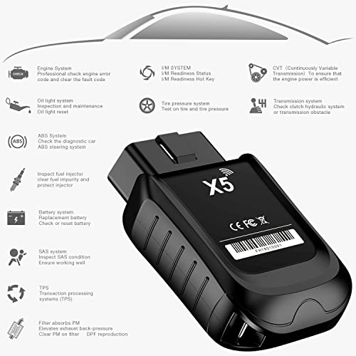 ANCEL X5 is an OBD 2 scan tool works with both 12V diesel and gasoline vehicles (no all-electric) 1996 or newer.