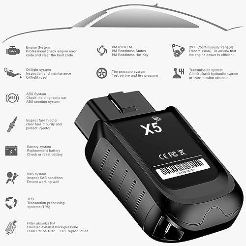 ANCEL X5 est un outil d'analyse OBD 2 qui fonctionne avec les véhicules diesel et à essence 12V (non tout électrique) de 1996 ou plus récent.