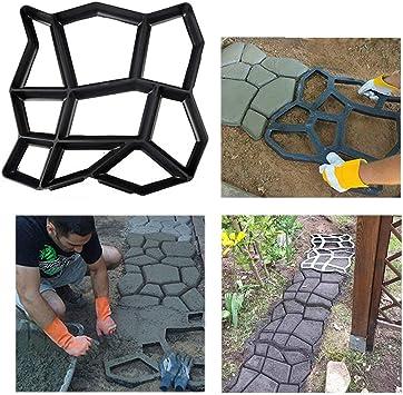 Molde para hormigón irregular con diseño de piedra, reutilizable, para pavimentar y hormigón, para jardín, patio, jardín, pasarelas, etc.: Amazon.es: Bricolaje y herramientas