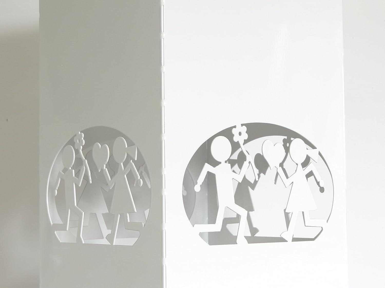 Portaombrelli in metallo bianco Cukoo Design