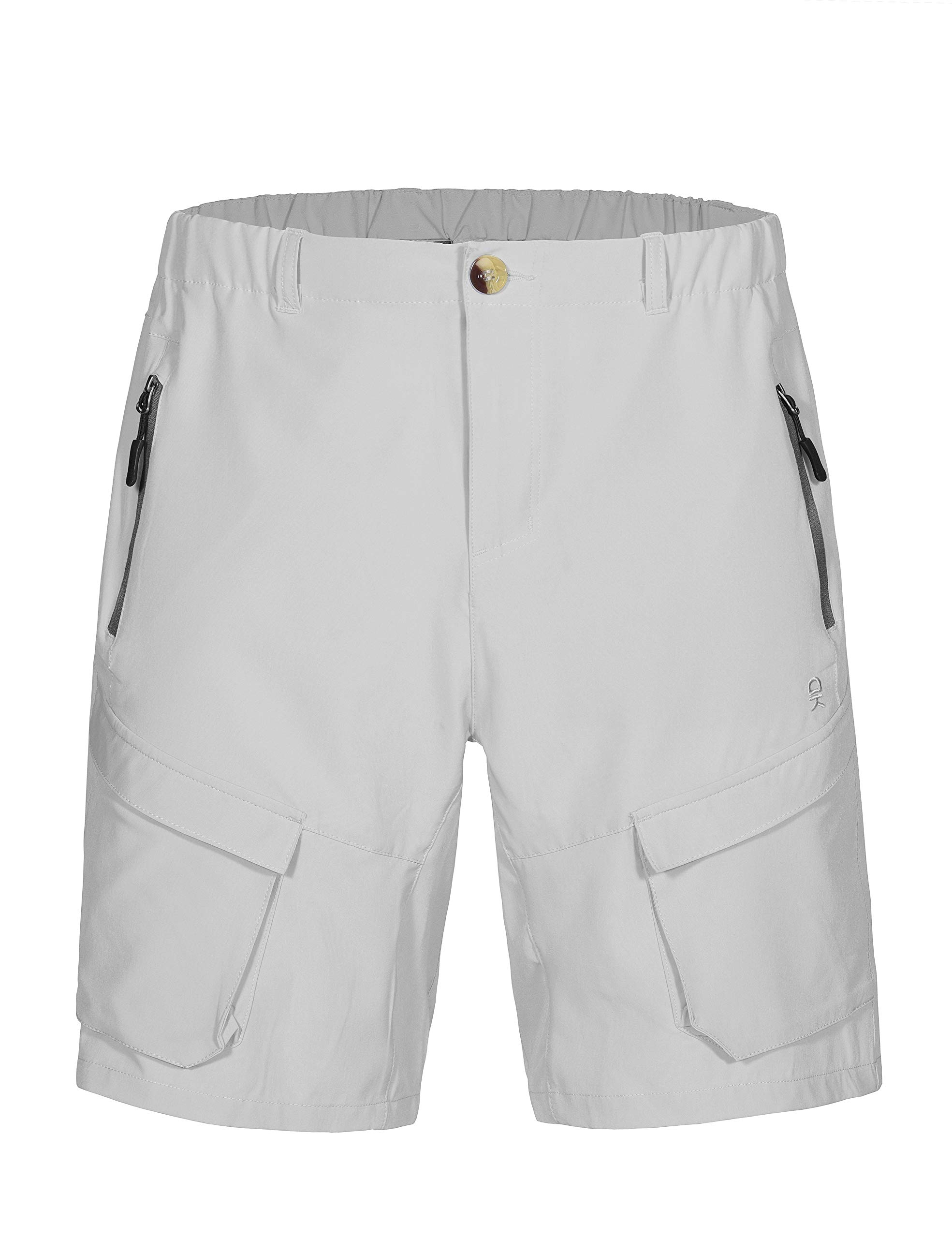 Little Donkey Andy Men's Stretch Quick Dry Cargo Shorts for Hiking, Camping, Travel Gray Size M by Little Donkey Andy