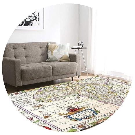 Amazon.com: Alfombras 3D con mapa impreso para sala de estar ...