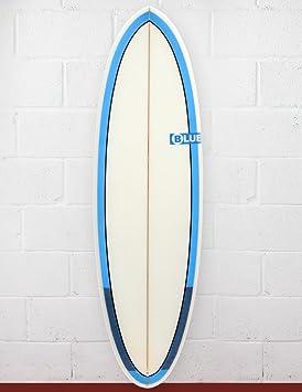 Azul lunares gato tabla de surf 5 ft rieles de 11 – azul