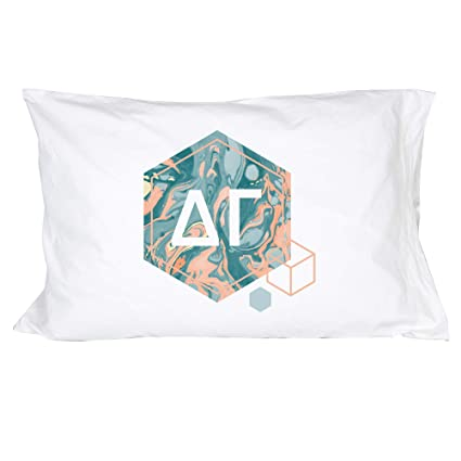 Delta Gamma Sorority Pineapple Pop Art Pillowcase 300 Thread Count 100/% Cotton DG