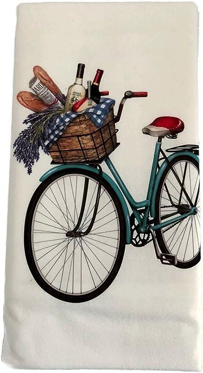 Verano Retro bicicleta cesta bicicleta harina saco toalla de ...