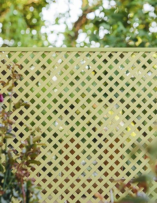 Jardin202 060 x 120 Metros - Celosía Fija de PVC - 18mm - Marfil: Amazon.es: Jardín