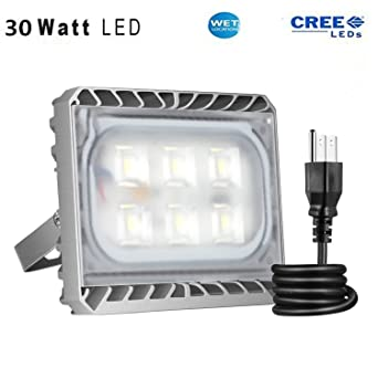 amazon com solla 30w cree led flood light outdoor security lights