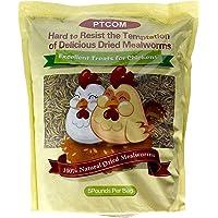 Hatortempt 5 lbs Non-GMO Dried Mealworms-High-Protein Mealworms for Wild Bird,Chicken, Ducks,Fish,Reptile, Tortoise, Amphibian,Lizard