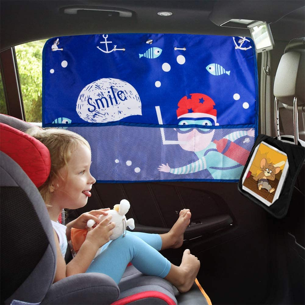 Car Sun Shade Universal Fit-Protect Privacy-Strong Suction Cup Front Seat, Sea aokway Car Window Shades