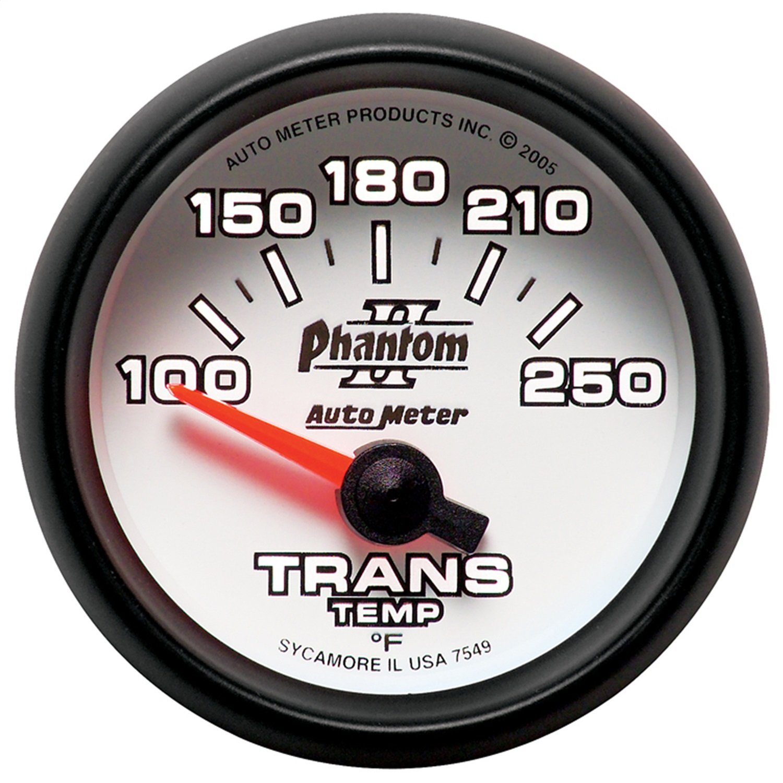 Auto Meter 7549 Phantom II Electric Transmission Temperature Gauge by Auto Meter