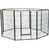8 Panels Galvanised Pen Run for Dog Chicken Chook Rabbit Cat 80cm/110cm Height playpen