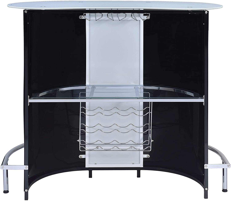 Coaster Home Furnishings CO- Bar Unit, Black and White